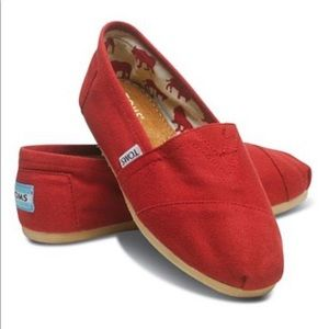 Toms Classic Red Toms Flats Size 8W